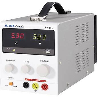 Basetech BT-305 penkki PSU (säädettävä jännite) 0-30 V DC 0-5 A 150 W ei. lähdöt 1 x