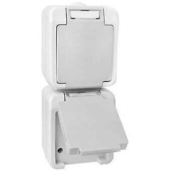 Peranova 102437 Wet room switch product range Twin socket Pera Light grey, Dark grey