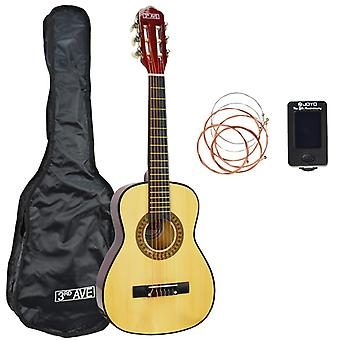 3rd Avenue 1/4 Size Classical Guitar Pack in Natural