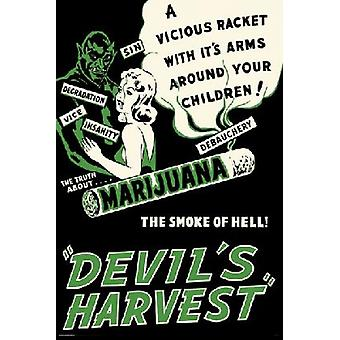 Devils Harvest Classic Poster Poster Print