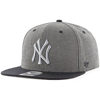 47 fire Snapback Cap - DOUBLEMOVE NY Yankees grey heather