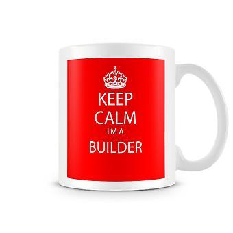 Сохранять спокойствие, я печатных кружку строитель