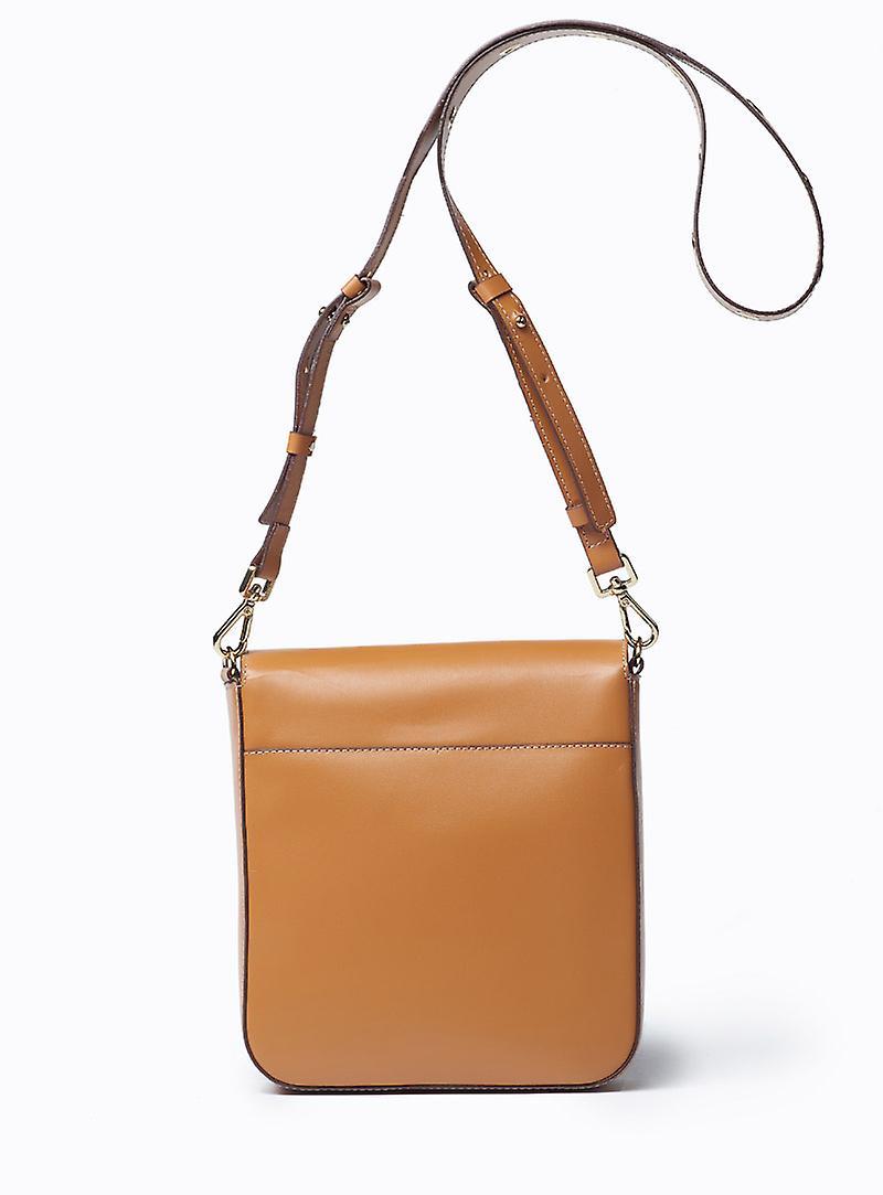 VIVER Leather Crossbody Bag Serenade Tan