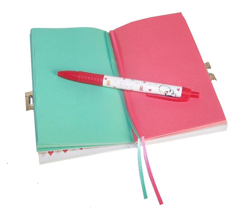 Ballerina sparkly lockable secret diary notebook