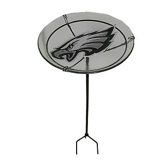 NFL Philadelphia Eagles Embossed Glass Birdbath Garden Stake