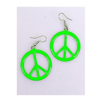 Schmuck und krönt Frieden Ohrringe fluoreszierend grün