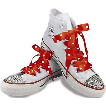 Red Polka Satin Laces