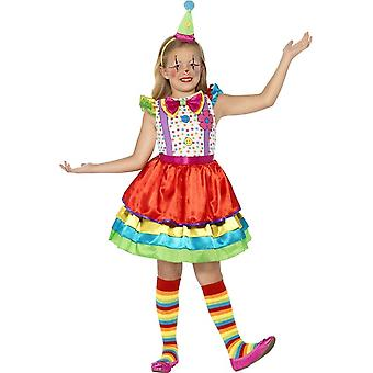 زي فتاة المهرج ديلوكس، متوسط عمر 7-9