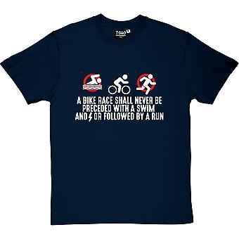 A Bike Race Navy Blue Men's T-Shirt
