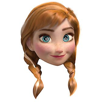 Anna from Disney's Frozen Party Card Face Mask (single)