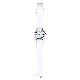 Lovemystyle White Watch With Diamante Detail