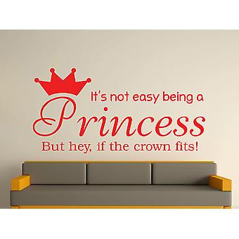 Being A Princess Wall Art Sticker - Tomato Red