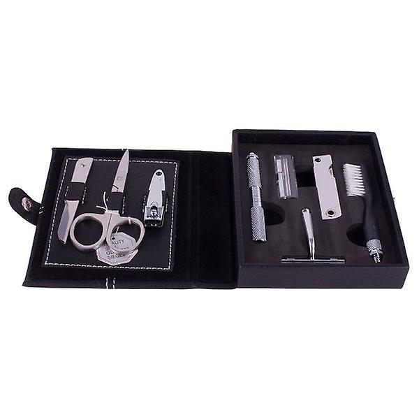 Artamis 6 Piece Men's Manicure/ Grooming Set - Black Case