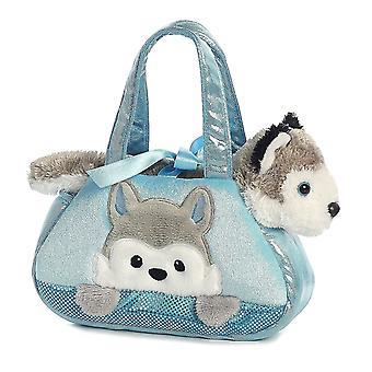Peek-A-Boo Husky ausgestopfte Tier Geldbörse von Aurora