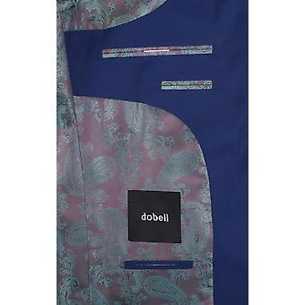 Dobell Boys brillante blu giacca Regular Fit risvolto tacca