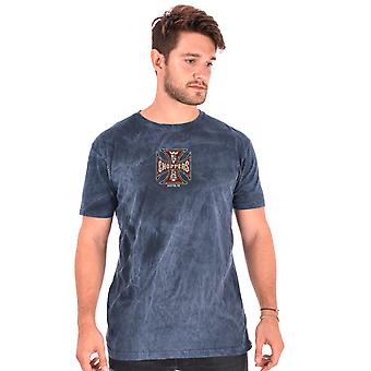 West Coast choppers mens T-Shirt vintage blue spark