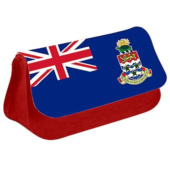 Cayman Islands Flag Printed Design Pencil Case for Stationary/Cosmetic - 0206 (Red) by i-Tronixs