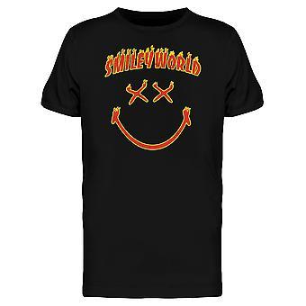 SmileyWorld Fire Flames Happy Face Men's T-shirt