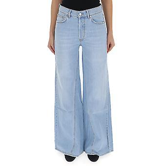 Ganni F3142700 Women's Light Blue Cotton Jeans