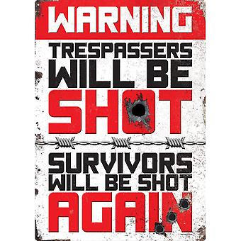 Grindstore Double Warning Tin Sign