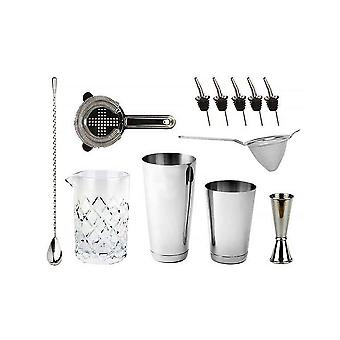 Bartender's Bar Kit with Hikari Weighted Shaker Tins