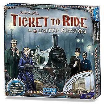 Ticket to Ride Egyesült Királyság és Pennsylvania játék