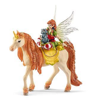 Schleich Bayala Fairy Marween with Glitter Unicorn Toy Figure (70567)