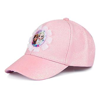Frozen Childrens/Girls Glitter Baseball Cap