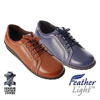 Leather Easy-Step Lace-up Shoes (Pair)