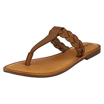 Ladies Leather Collection Braided Toepost Sandals