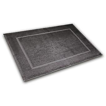 Bath feeder 50 x 70 cm bath mat anthracite, made of 100% cotton, in poly bag.