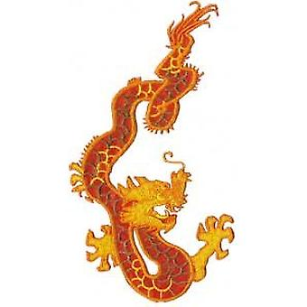 Patch - Animals - Orange Dragon Iron On Gifts New Licensed p-3294