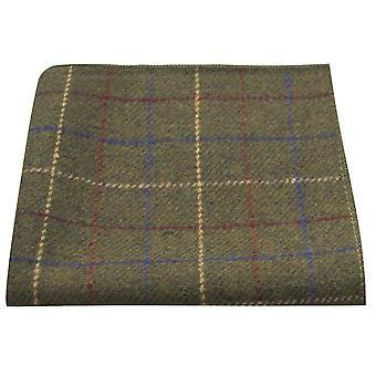 Heritage Check Regency grün Einstecktuch, Tweed, Taschentuch
