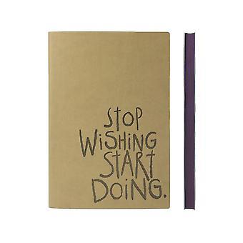 Daycraft A5 Signatur Inspiro Notebook, feine italienische PU, 176 Seiten, W151 x H212 mm, Karamell
