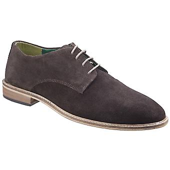 Lambretta Mens Scotts Derby Lace Shoe Dark Brown Suede