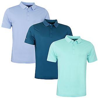 Callaway Mens Golf Micro Hex Solid Polo Shirt