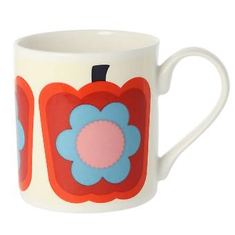 Orla Kiely peper rode Bone China mok