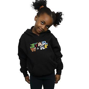 Star Wars piger karakter logo hoodie