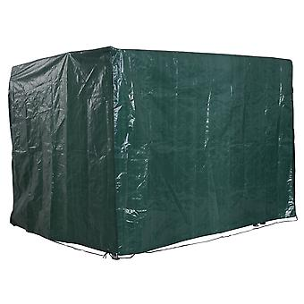 Outsunny Patio Swing Chair Bench Cover Outdoor Garden Furniture Rain Protection Cover Protector Waterproof Anti-UV Green 215L x 155W x 150Hcm