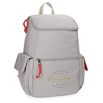 Pepe Jeans Yoga Backpack Casual - 44 cm - 25.92 liters - Gray (Gris)
