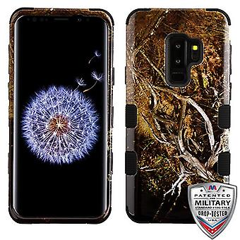 MYBAT Yellow/Black Vine/Black TUFF Hybrid Phone Protector Cover for Galaxy S9 Plus