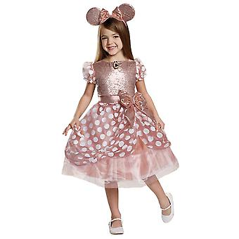 Gold Minnie Mouse barn kostume