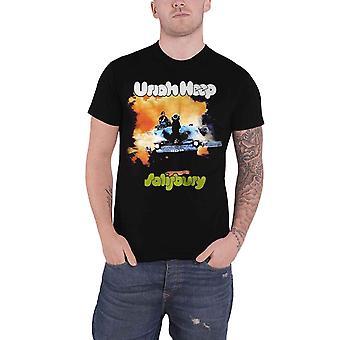 Uriah Heep T Shirt Salisbury Album Cover Band Logo new Official Mens Black