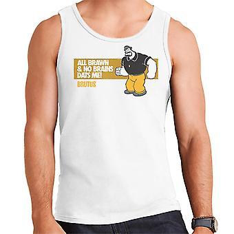 Popeye Brutus All Brawn No Brains Men's Vest