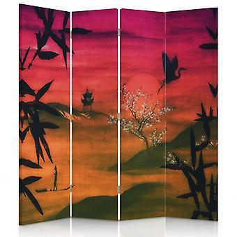Divisor de quarto, 4 painéis, lona, paisagem Japão