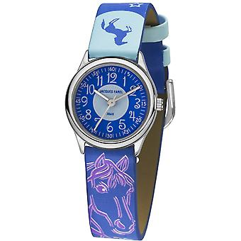 JACQUES FAREL Kids Wristwatch Analog Quartz Girl Faux Leather HCC 338 Horse