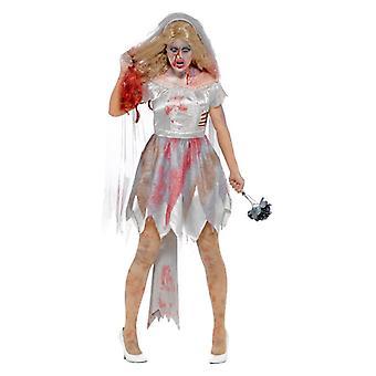 Naisten Halloween zombie morsian Fancy Dress puku