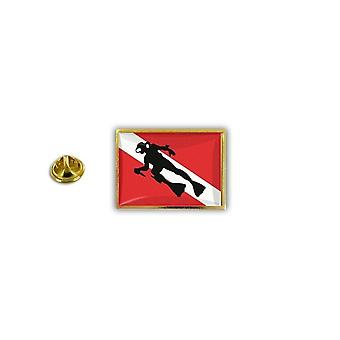 Pine Pines Insignia Pin-apos;s Metal Epoxy Flag Scuba Swimmer Dive Diving R2