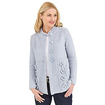 Amber Ladies Pom Pom Cardigan