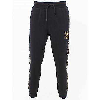 Pantalon emporio Armani Taped Logo Sweat - Noir